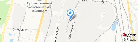 Водно-оздоровительный комплекс на карте Хабаровска