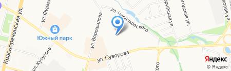 Средняя общеобразовательная школа №52 на карте Хабаровска