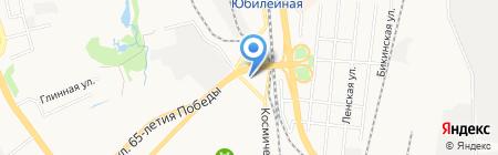 Автостоянка на Космической на карте Хабаровска