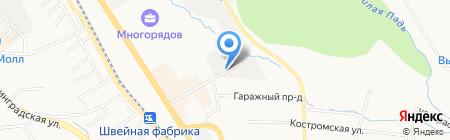 Сладком на карте Хабаровска