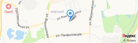 Рубин на карте Хабаровска