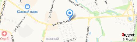 Сток на карте Хабаровска