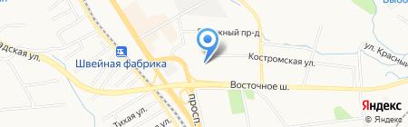 Пеликан на карте Хабаровска