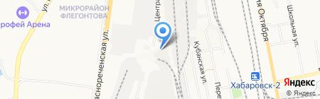 Южное на карте Хабаровска