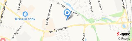 Детский сад №204 на карте Хабаровска