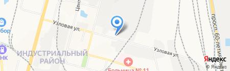О Югас на карте Хабаровска