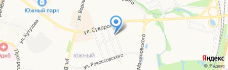 Подкова на карте Хабаровска