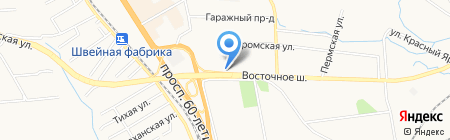 Кешка на карте Хабаровска