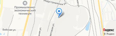 Клайд на карте Хабаровска
