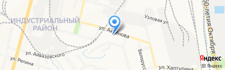 Звенящий кедр на карте Хабаровска
