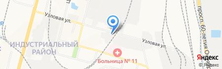 Акцент на карте Хабаровска