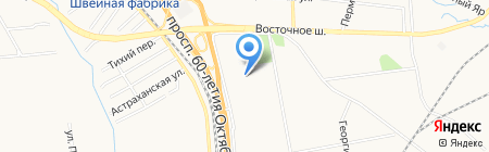 Визир на карте Хабаровска