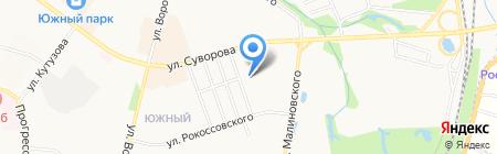 Детский сад №207 на карте Хабаровска