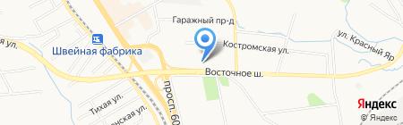 Незабудка на карте Хабаровска