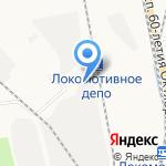 Трансконтейнер на карте Хабаровска