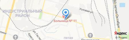 Городская клиническая больница №11 на карте Хабаровска