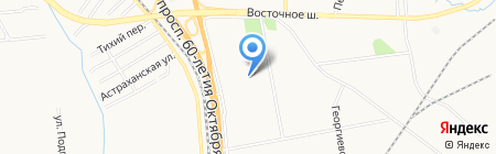 Мединж на карте Хабаровска