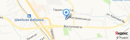 Восточное на карте Хабаровска