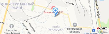 Швальбеннест на карте Хабаровска