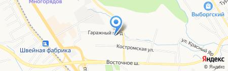 Камелия на карте Хабаровска
