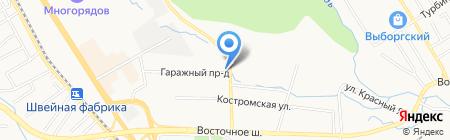 Автостоянка на Костромской на карте Хабаровска