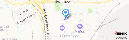 Детский сад №21 на карте Хабаровска