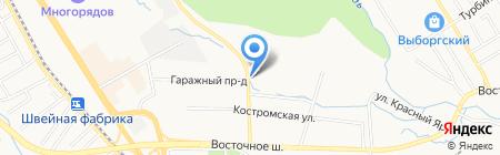 ГСК №150А на карте Хабаровска