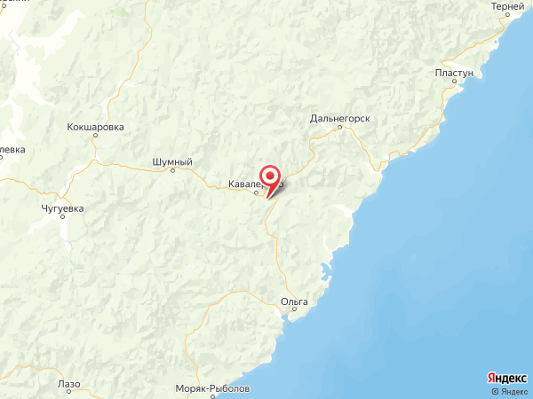 село Синегорье на карте