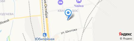 Кедр на карте Хабаровска