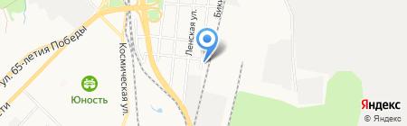 Джип Тайрс на карте Хабаровска