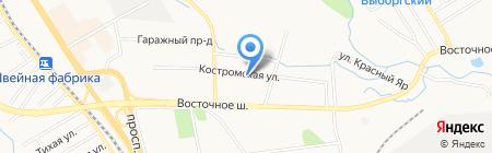 Гидростройпроект на карте Хабаровска