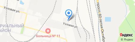 Зеленый самосвал на карте Хабаровска