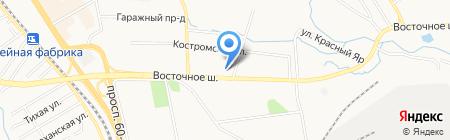 Авто-сити на карте Хабаровска