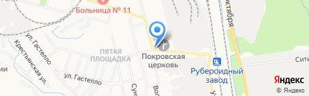 Аура на карте Хабаровска