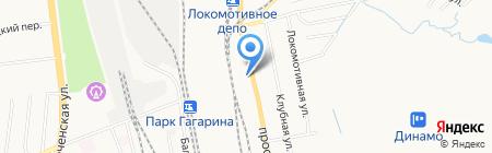 Автосток на карте Хабаровска