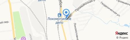 Гермес на карте Хабаровска