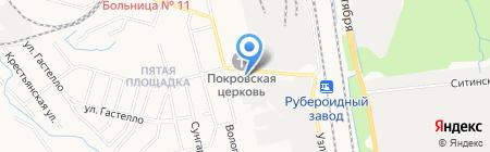 Радуга-Сервис на карте Хабаровска