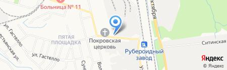 Металлоконструкция на карте Хабаровска