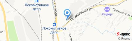 Ондулин на карте Хабаровска
