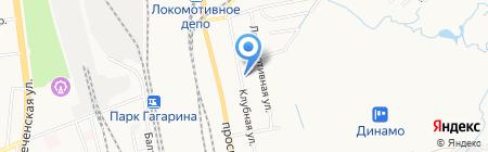 Локомотив на карте Хабаровска