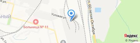 Дальтехгаз на карте Хабаровска