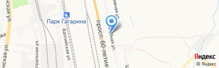 Универсал на карте Хабаровска