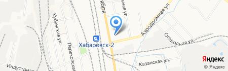Шиномонтажная мастерская на Аэродромной на карте Хабаровска