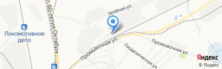 Хабаровскстеклотара на карте Хабаровска