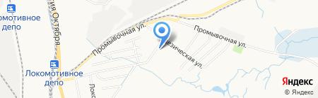 Анюта на карте Хабаровска
