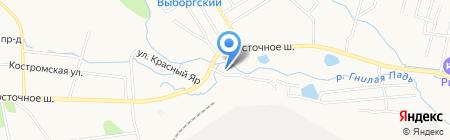 Красный Яр на карте Хабаровска