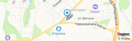 Центр по работе с населением Железнодорожного района на карте Хабаровска