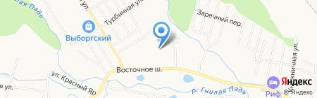 Базис-Восток Мед на карте Хабаровска