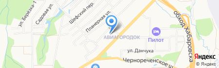 Крунг на карте Хабаровска