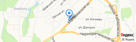 Грация на карте Хабаровска